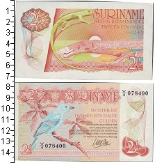 Изображение Банкноты Суринам 2 1/2 доллара 1985  UNC