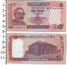 Изображение Банкноты Бангладеш 5 така 2011  UNC