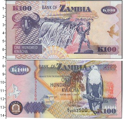 Картинка Банкноты Замбия 100 квач  1992