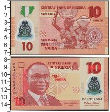 Изображение Банкноты Нигерия 10 найра 2013  UNC
