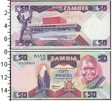 Изображение Боны Замбия 50 квач 0  UNC