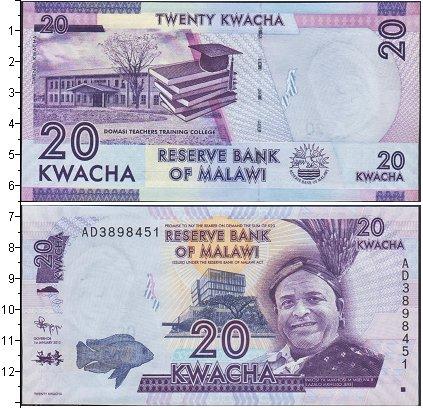 Картинка Банкноты Малави 20 квач  2012