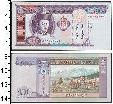 Изображение Боны Монголия 100 тугрик 2008  UNC
