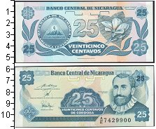 Изображение Банкноты Никарагуа 25 кордоба 0  UNC