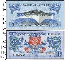 Изображение Банкноты Бутан 1 нгултрум 2013  UNC Орнамент с драконом.