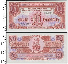 Изображение Банкноты Великобритания 1 фунт 0  UNC