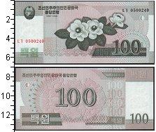 Изображение Боны Северная Корея 100 вон 2008  UNC