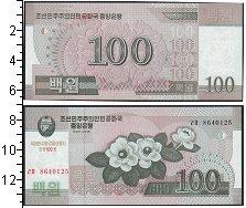 Изображение Банкноты Северная Корея 100 вон 2008  UNC