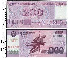 Изображение Боны Северная Корея 200 вон 2008  UNC