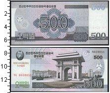 Изображение Банкноты Северная Корея 500 вон 2008  UNC
