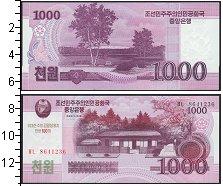 Изображение Боны Северная Корея 1000 вон 2008  UNC