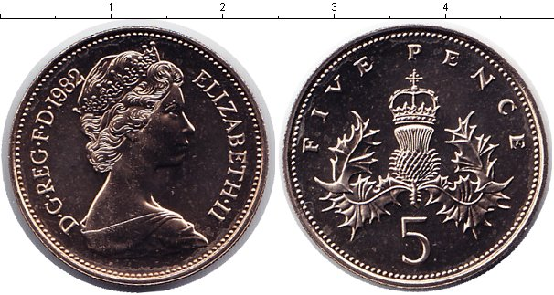 Великобритания 5 пенсов 1998-2008 г