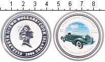 Изображение Монеты Острова Кука 2 доллара 2006 Серебро Proof- Елизавета II.