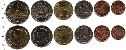 Изображение Наборы монет Таиланд Таиланд 0  UNC В наборе 6 монет ном