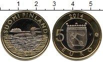 Изображение Мелочь Финляндия 5 евро 2014 Биметалл UNC-