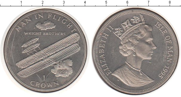 Картинка Монеты Остров Мэн 1 крона Медно-никель 1995