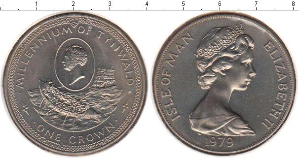 Картинка Монеты Остров Мэн 1 крона Медно-никель 1979