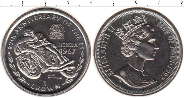 Картинка Монеты Остров Мэн 1 крона Медно-никель 1997