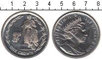 Изображение Монеты Остров Мэн 1 крона 2005 Медно-никель UNC- Елизавета II.