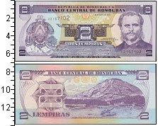 Изображение Банкноты Гондурас 2 лемпиры 2010  UNC