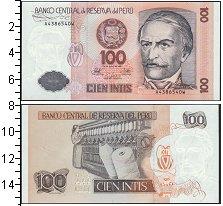 Изображение Банкноты Перу 100 инти 1987  UNC