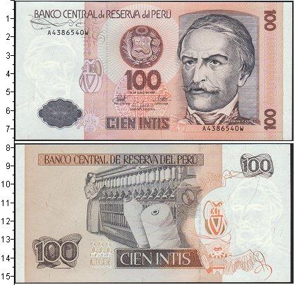 Картинка Боны Перу 100 инти  1987