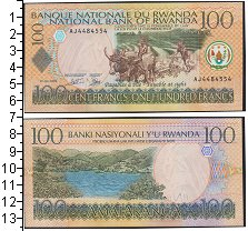 Изображение Боны Руанда 100 франков 2003  UNC