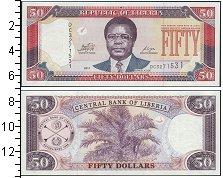 Изображение Боны Либерия 50 долларов 2011  UNC