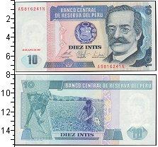Изображение Боны Перу 10 инти 1986  UNC
