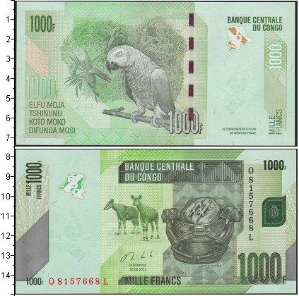 Картинка Банкноты Конго 1.000 франков  2013