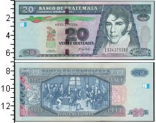 Изображение Боны Гватемала 20 куэталь 2008  UNC Портрет М.Гальвеса.
