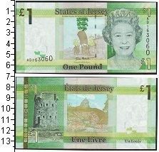 Изображение Банкноты Остров Джерси 1 фунт 0  UNC