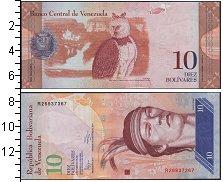 Изображение Боны Венесуэла 10 боливаров 2011  UNC Гуаикайпуро. Большая