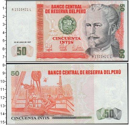 Картинка Боны Перу 50 инти  1987