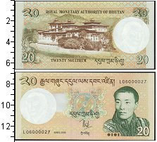 Изображение Банкноты Бутан 20 нгултрум 2013  UNC