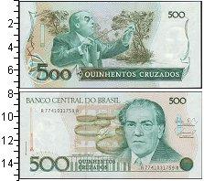 Изображение Боны Бразилия 500 крузейро 0  UNC Дирижер Эйтор Вилла-
