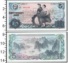 Изображение Банкноты Северная Корея 5 вон 0  UNC