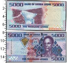 Изображение Банкноты Сьерра-Леоне 5000 леоне 2010  UNC