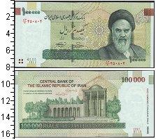 Изображение Банкноты Иран 100000 риалов 0  UNC
