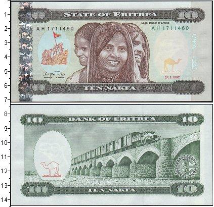Картинка Банкноты Эритрея 10 накфа  1997