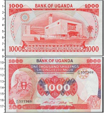 Картинка Банкноты Уганда 1.000 шиллингов  1986