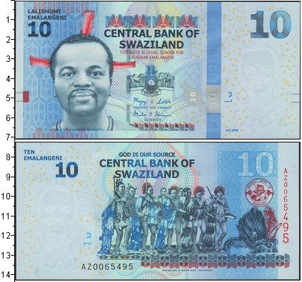 Картинка Боны Свазиленд 10 лилангени  2010