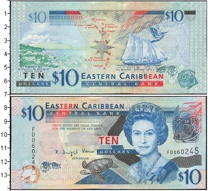 Картинка Банкноты Карибы 10 долларов  0