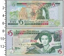 Изображение Банкноты Карибы 5 долларов 0  UNC