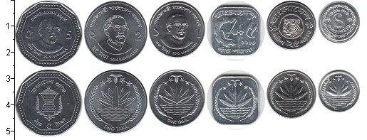 Изображение Наборы монет Бангладеш Бангладеш 2010-2012 0  XF В наборе 6 монет ном