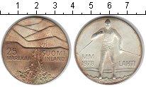 Изображение Монеты Финляндия 25 марок 1978 Серебро Proof- Зимняя олимпиада в Л