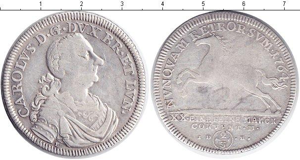 Картинка Монеты Ганновер 2/3 талера Серебро 1764