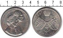 Изображение Монеты Великобритания 5 фунтов 1997 Медно-никель UNC 50-летие свадьбы Ели