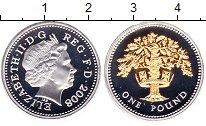 Изображение Монеты Великобритания 1 фунт 2008 Серебро Proof Елизавета II