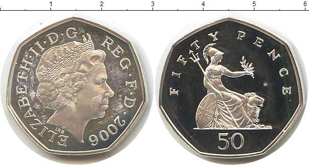 Картинка Монеты Великобритания 50 пенсов Серебро 2006